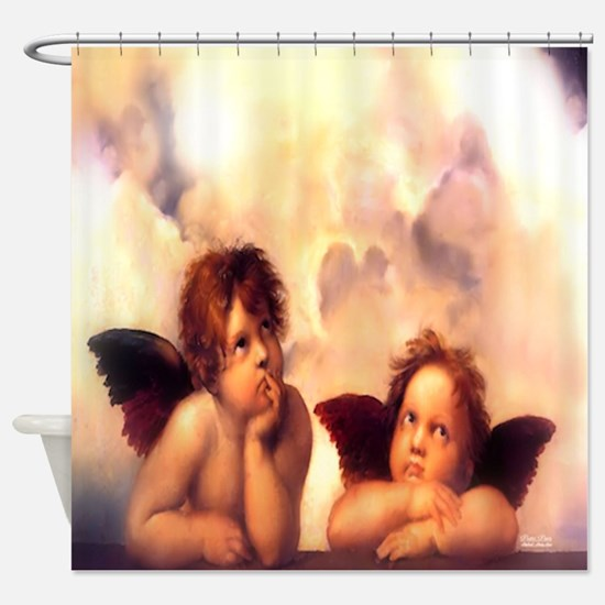 Putti Pair Angels Shower Curtain