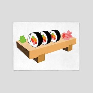 Sushi Japanese Food 5'x7'Area Rug