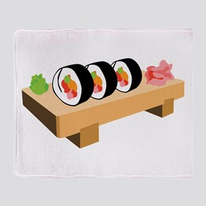 Sushi Japanese Food Throw Blanket