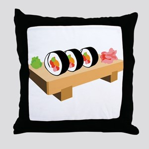 Sushi Japanese Food Throw Pillow
