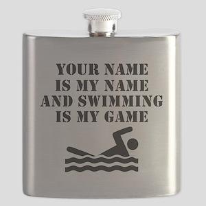 Swimming Is My Game (Custom) Flask