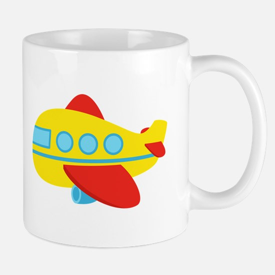 Cute Passenger Aeroplane in bright colours Mugs