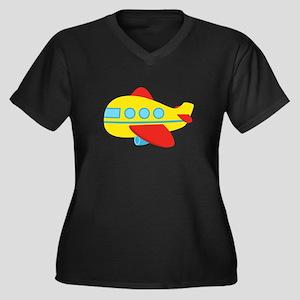 Cute Passenger Aeroplane in bright colours Plus Si