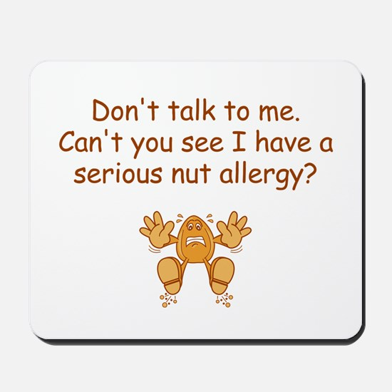 Nut Allergy Mousepad