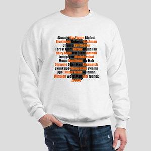 Bigfoot Names Footprint Sweatshirt