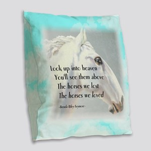 The Horses We Love Burlap Throw Pillow