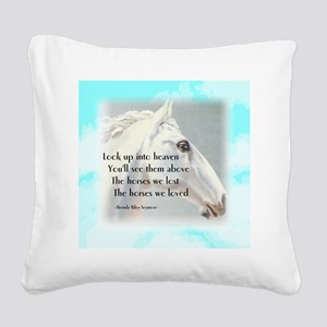 The Horses We Love Square Canvas Pillow