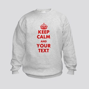Custom Keep Calm Sweatshirt