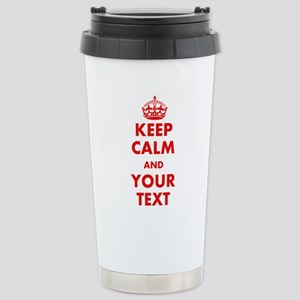 Custom Keep Calm Travel Mug