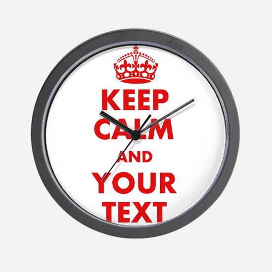 Custom Keep Calm Wall Clock