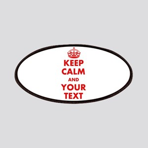 Custom Keep Calm And Carry On Patches