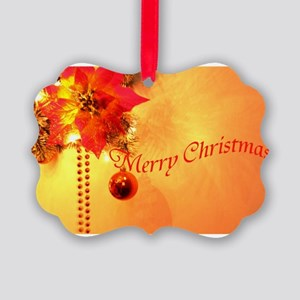 Gold merry-christmas- Picture Ornament