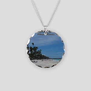 dominican republic Necklace Circle Charm