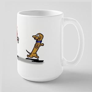 Run Wiener Dog! Large Mug
