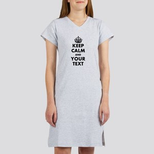 Personalized Keep Calm Women's Nightshirt