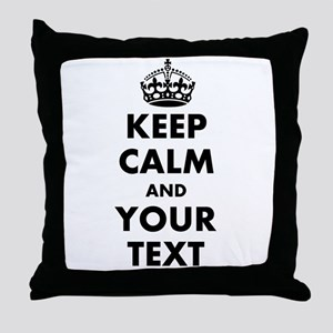 Personalized Keep Calm Throw Pillow