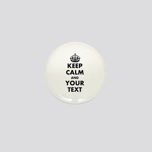 Personalized Keep Calm Mini Button