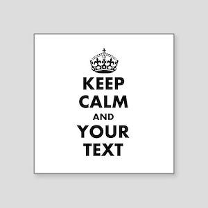 Personalized Keep Calm Sticker