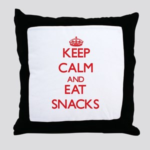 Keep calm and eat Snacks Throw Pillow