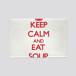 Keep calm and eat Soup Magnets