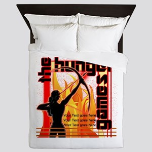 Personalize Girl on Fire Queen Duvet