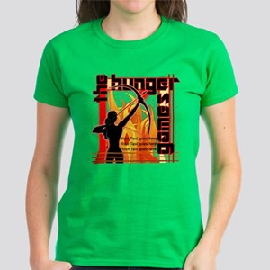 Personalize Girl On Fire Women's Dark T-Shirt