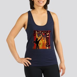 Personalize Girl on Fire Racerback Tank Top