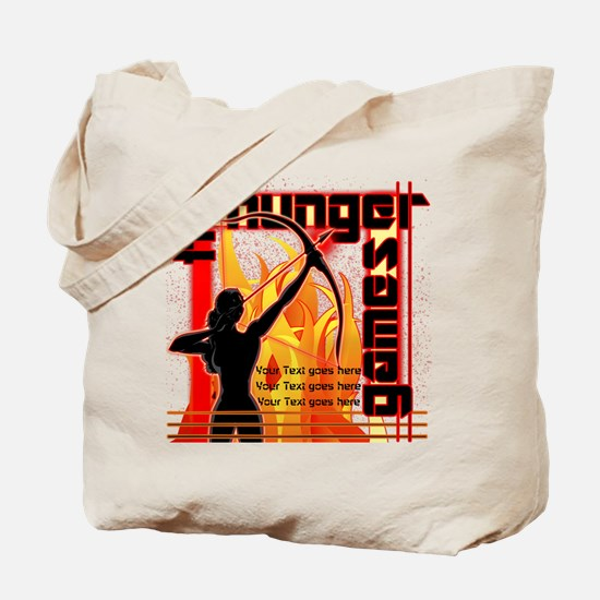 Personalize Girl on Fire Tote Bag