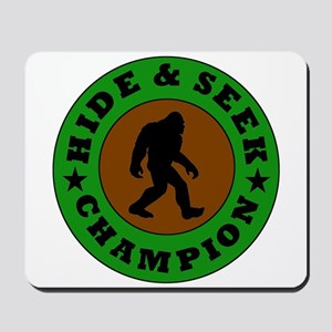 Bigfoot Hide And Seek Champion Mousepad