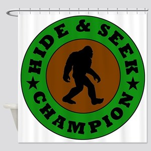 Bigfoot Hide And Seek Champion Shower Curtain