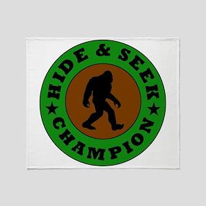 Bigfoot Hide And Seek Champion Throw Blanket