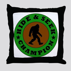Bigfoot Hide And Seek Champion Throw Pillow