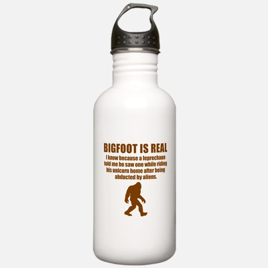 Bigfoot Is Real Water Bottle