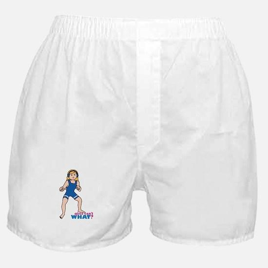 Woman Wrestler Blonde Hair Boxer Shorts