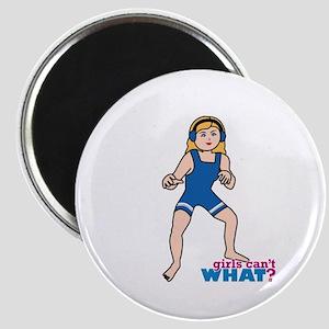 Woman Wrestler Blonde Hair Magnet
