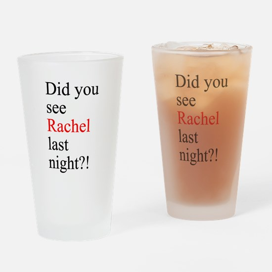 Rachel Fan Drinking Glass