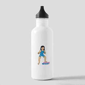 Woman Wrestler Medium Stainless Water Bottle 1.0L