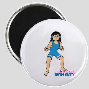 Woman Wrestler Medium Magnet