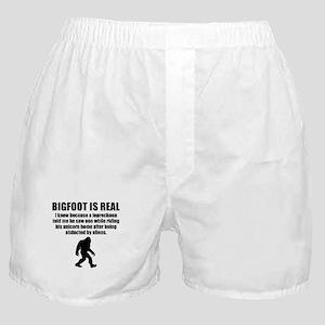 Bigfoot Is Real Boxer Shorts