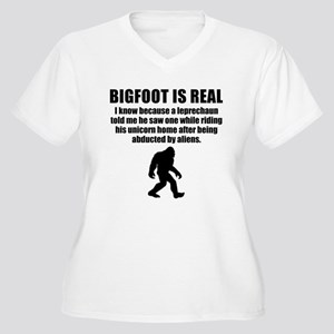 Bigfoot Is Real Plus Size T-Shirt