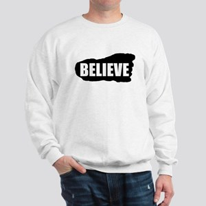 Believe Bigfoot Footprint Sweatshirt