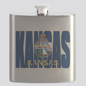 Kansas Flag Flask