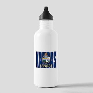 Kansas Flag Water Bottle