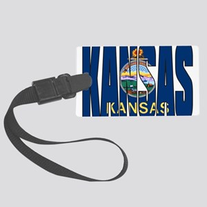 Kansas Flag Luggage Tag