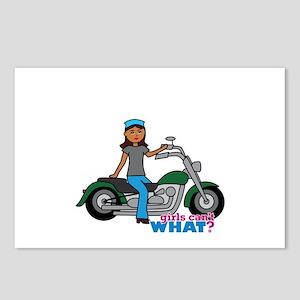 Biker Girl Dark Postcards (Package of 8)