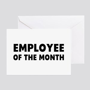 Employee of the month greeting cards cafepress employee month greeting card m4hsunfo