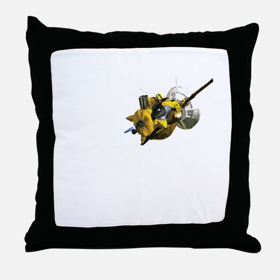 Cute Spacecraft Throw Pillow