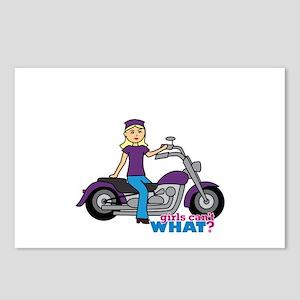 Biker Girl Light/Blonde Postcards (Package of 8)
