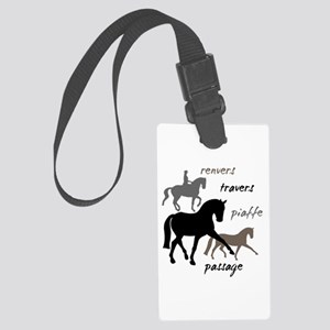 Dressage Movements Trio Large Luggage Tag