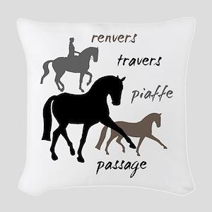 Dressage Movements Trio Woven Throw Pillow